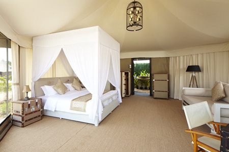 Bateleur Canvas Tent Bedroom