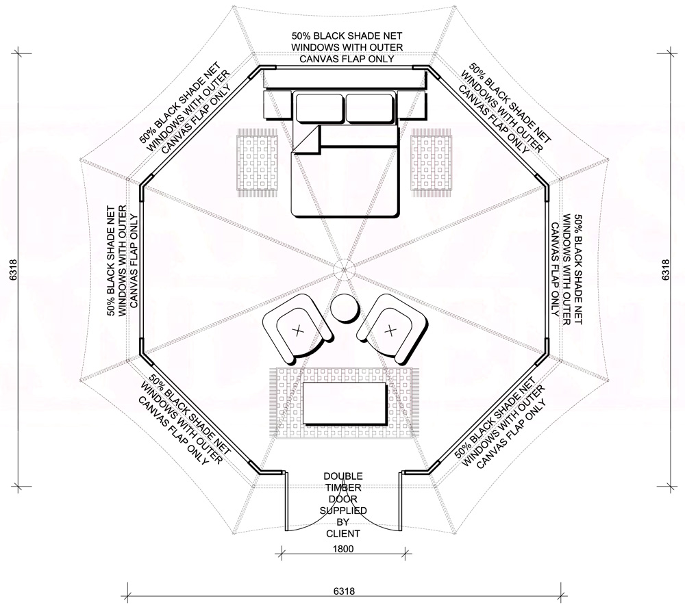 Bateleur Canvas Tent Floor Plan