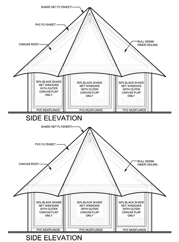 Bateleur Canvas Tent Side Elevation
