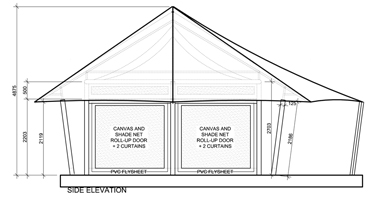 Cantina Canvas Tent Elevation