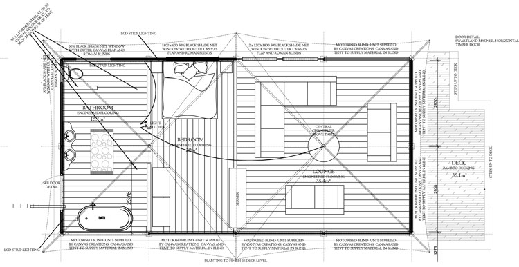 Coolabah Canvas Tent Floorplan