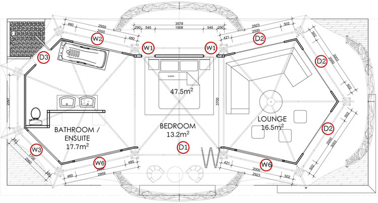 Canvas Tent floor plan