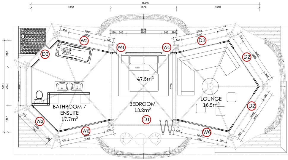 Elfresco villa for Canvas tent plans