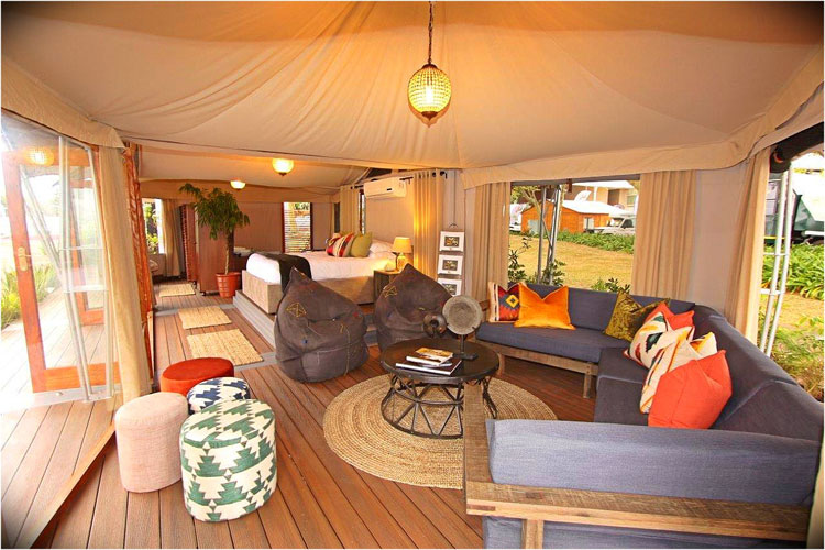 Canvas Tent Sitting Lounge Alfresco Villa