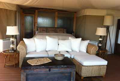Fish Eagle Canvas Villa Interior