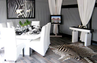 Hacienda Canvas Tent Dinning