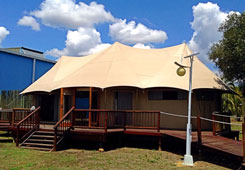 Canvas Tent Indaba Exterior View