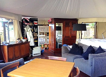 Kingfisher Canvas Tents Interior