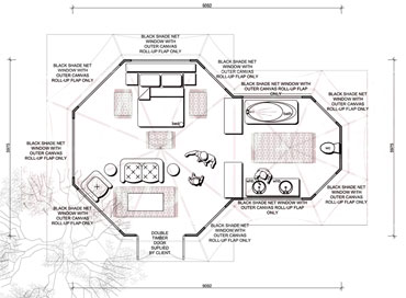 Kingfisher Canvas Tents Floorplan