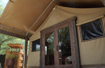 Canvas Tent Camping Front Door