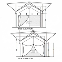 Canvas Tent Camp Side Elevation