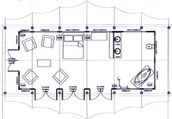Zari Canvas Tent Camp Side Plan